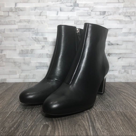 d146d8408 Dkny Shoes | Nwot Black Silver Corrie Ankle Booties | Poshmark